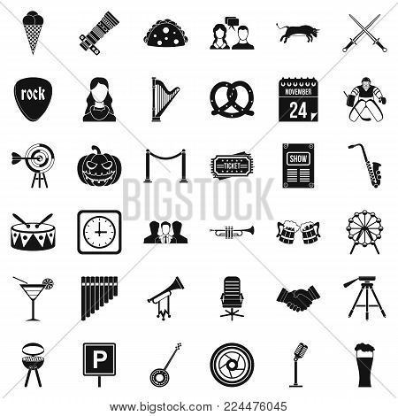 Congregation icons set. Simple set of 36 congregation vector icons for web isolated on white background