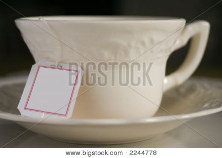 Tea Cup With Tag-Plain