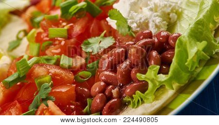 East African cuisine - Timatim Tomato Salad, Traditional assorted African cuisine, Ethiopian