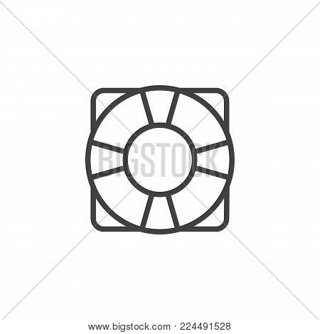 Life saver line icon, outline vector sign, linear style pictogram isolated on white. Lifebuoy, help symbol, logo illustration. Editable stroke