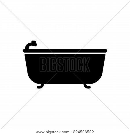 bath icon. Bathroom and sauna element icon. Premium quality graphic design. Signs, outline symbols collection icon for websites, web design, mobile app, info graphics on white background