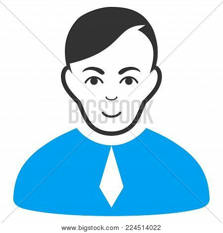 Loyer vector pictograph. Style is flat graphic bicolor symbol, blue and gray colors, white background.