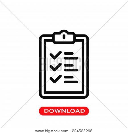 List icon vector in modern flat style for web, graphic and mobile design. List icon vector isolated on white background. List icon vector illustration, editable stroke and EPS10. List icon vector simple symbol for app, logo, UI.
