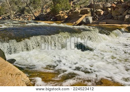 A view of Oak Creek at Slide Rock Park near Sedona Arizona.