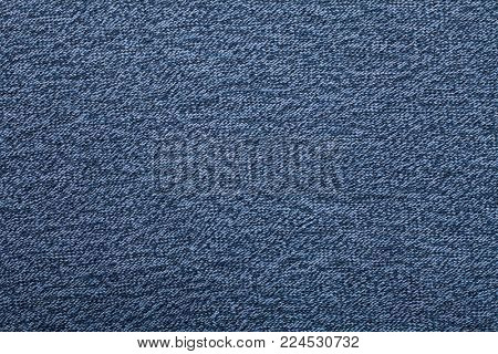 Heather blue knitted fabric textured background