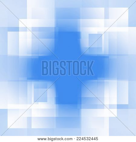 abstract blue background of squares cruciform