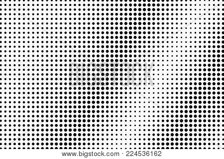 Black White Subtle Diagonal Dotted Gradient. Half Tone Vector Background. Sparse Dotted Halftone. Ab