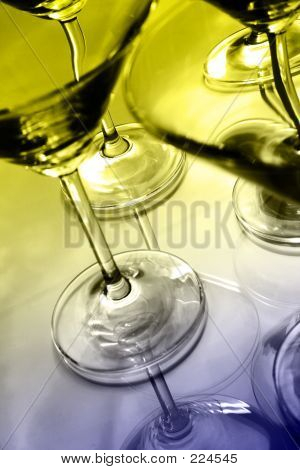 Martini Glasses And Reflections