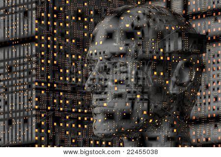 abstract, geometrical, conceptual background design 'cyborg'