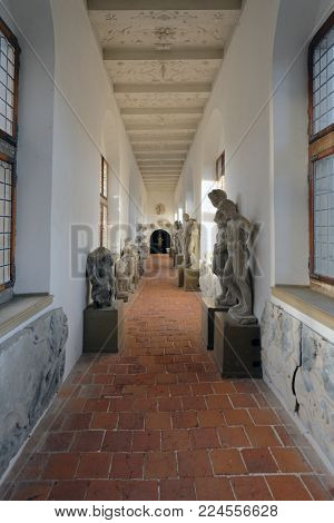 HILLEROD, DENMARK - DECEMBER 27, 2016: Interior of Frederiksborg Castle. It was built as a royal residence for King Christian IV and becoming the largest Renaissance residence in Scandinavia