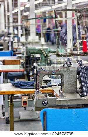Textile industry factory in Gaborone , Botswana, Africa, industrial sewing machines, elastic machines,
