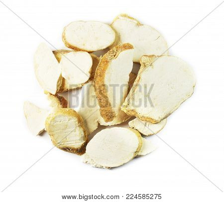 Radix Trichosanthis, chinese herbal medicine isolated. Tian Hua Fen