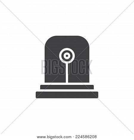 Fire alarm light icon vector, filled flat sign, solid pictogram isolated on white. Emergency siren symbol, logo illustration.