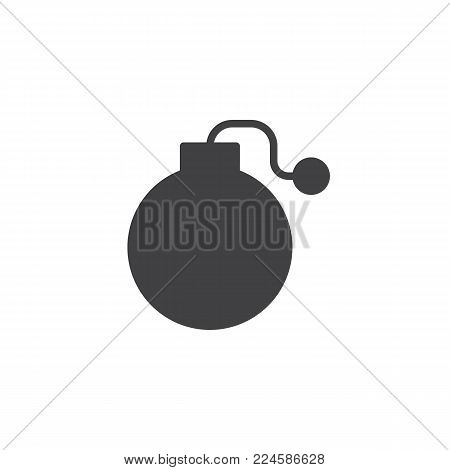 Fuse Bomb icon vector, filled flat sign, solid pictogram isolated on white. Symbol, logo illustration.