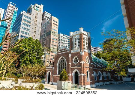 St. Andrews Church in Kowloon, Hong Kong. China