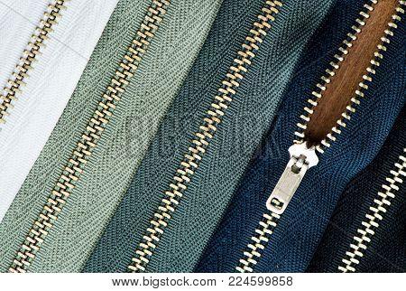 Zipper closeup metal