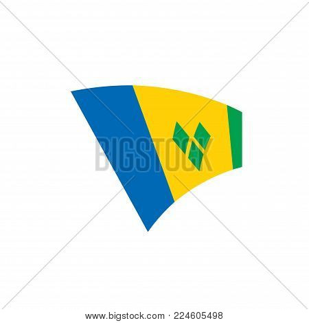 Saint Vincent and the Grenadines flag, vector illustration on a white background
