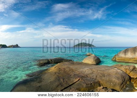 Beautiful landscape with rocks on Similan islands, Thailand
