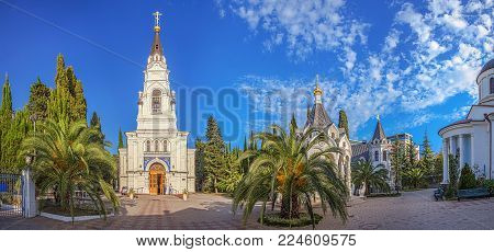 Panorama of the Cathedral Complex of Michael the Archangel in Sochi, Russia