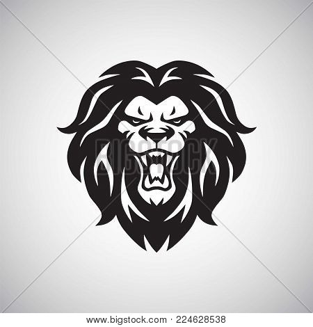 Angry Lion Head Logo Vector & Photo (Free Trial)   Bigstock