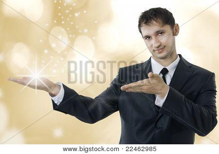Young Adult Magic Business Man