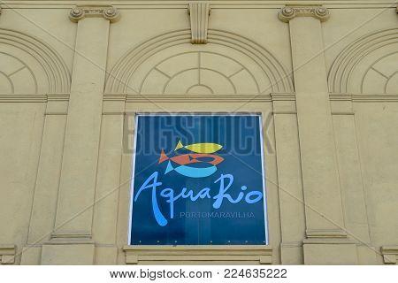 Rio de Janeiro, Brazil - Jan 11, 2018: AquaRio, inaugurated in 2016 is the largest aquarium in South America at 26, 000 square meters