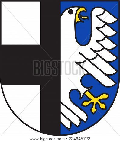 Coat of arms of Balve is a town in the Maerkischer district, North Rhine-Westphalia, Germany. Vector illustration