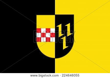 Flag of Hemer is a town in the Maerkischer District, in North Rhine-Westphalia, Germany. Vector illustration