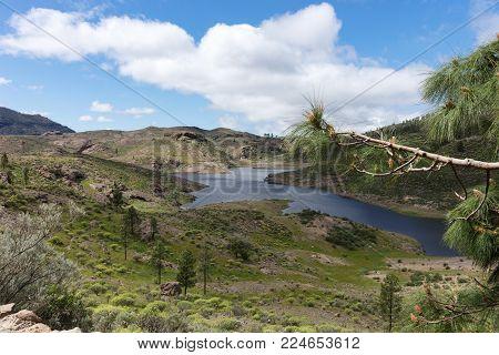 Reservoir in Gran Canaria, named Cueva de las Ninas