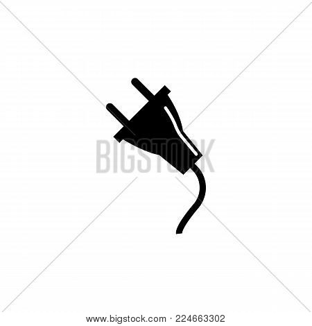 electric plug adapter icon on white background
