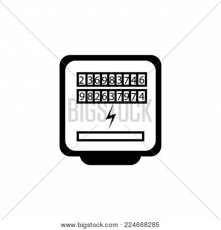 Electric meter device icon on white background