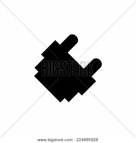 electrical plug adapter icon on white background