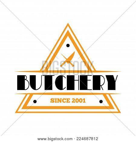 Vintage set of vector butchery labels, badges and design elements