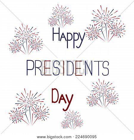 Postcard with text and salute on the day of the presidents