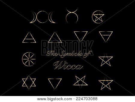 Golden Set Witches Vector Photo Free Trial Bigstock