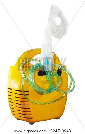 Monochrome Image Of An Oxygen Mask, Health