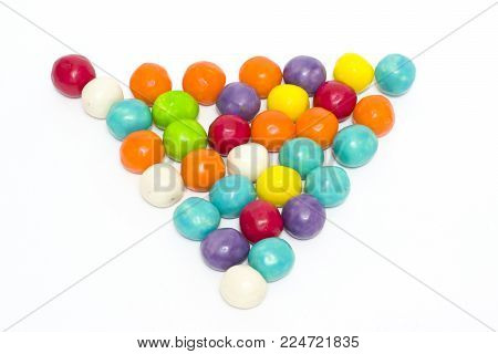 Multi-colored sweets on a white background. Sweets sweet on white background.