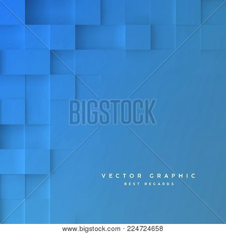 Abstract square background. Geometric minimalistic cover design. Vector graphic.
