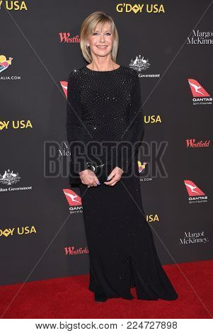 LOS ANGELES - JAN 27:  Olivia Newton John arrives for the G'Day USA Gala 2018 on January 27, 2018 in Los Angeles, CA