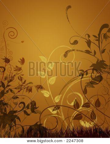 Abstract Autumn Grunge
