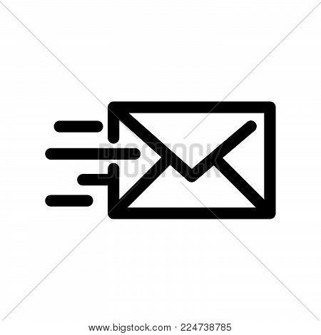 Mail Send Icon Isolated On White Background. Mail Send Icon Modern Symbol For Graphic And Web Design