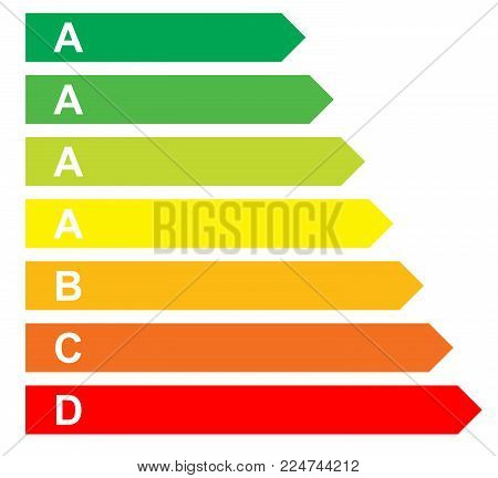 Illustration classification energy, isolated on white background