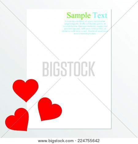 Valentine Card With Space For Text