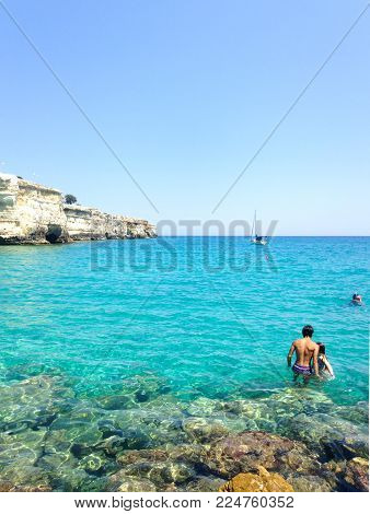 This is a truly amazing place in the city of Bari, in the Adriatic coast. It`s a spectacular beach with some of the niecest views in the whole coast. You can see it, it`s a perfect place to relax, think, and enjoy the spirit of the Adriatic sea.