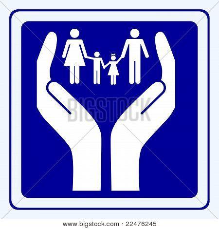 Signo de cuidado de la familia