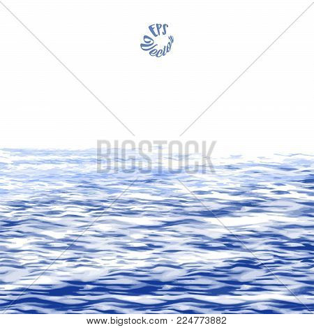 Abstract Ocean Painting background. Stain in grunge style. Perfect for designing and decorating banners and flyers.