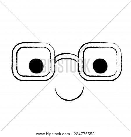 animated glasses cartoon caricature comic graphic fun vector illustration