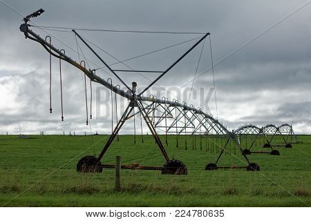 Pivot irrigation system in the Australian agricultural district