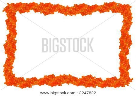 Isolated Red Caviar Frame
