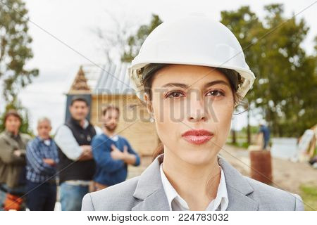 Young self confident woman as architect with competence